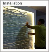 Installation panneaux muraux 3D